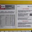 Hinweis an den Haltestellen zu Corona bedingten Fahrplanänderungen