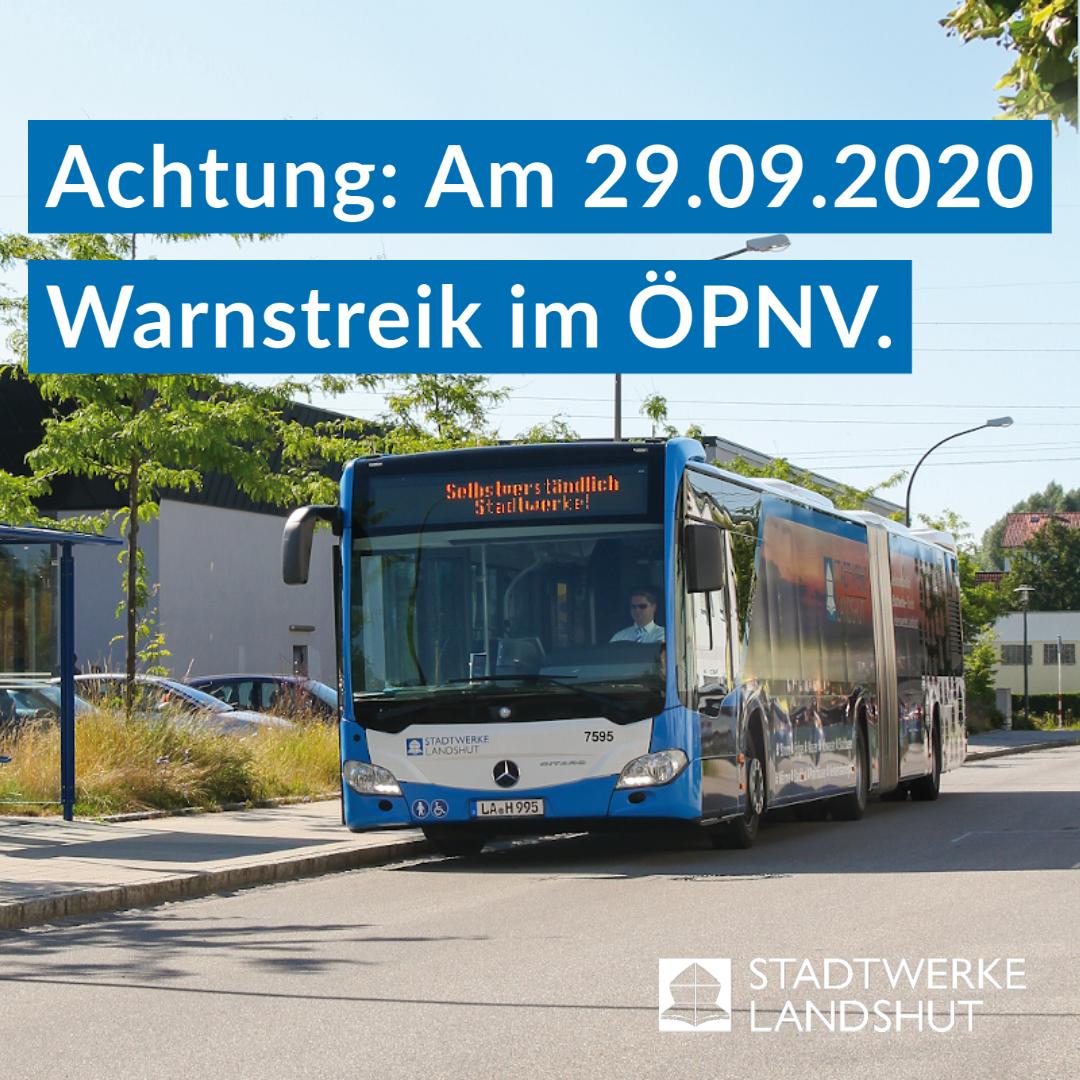 Warnstreik ÖPNV in Landshut