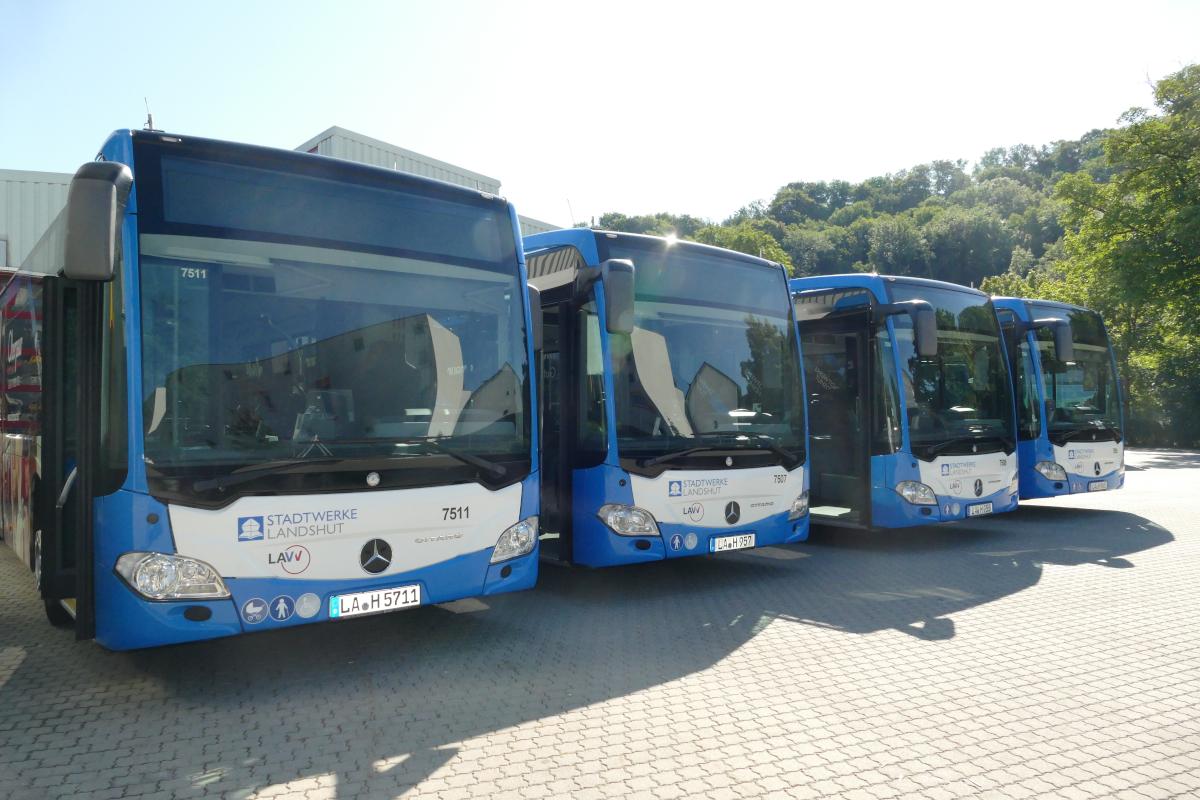 Linienbusse der Stadtwerke Landshut