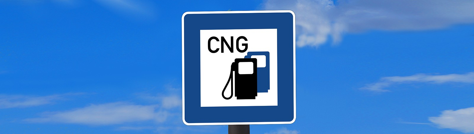 Schild einer Erdgas-Tankstelle