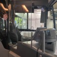 Trennscheibe zum Schutz des Fahrpersonals