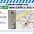 Haltestellenverlegung Goldinger Straße