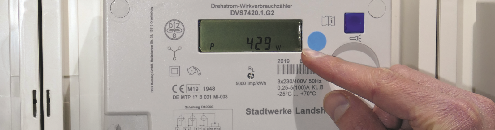 Digitaler Stromzähler