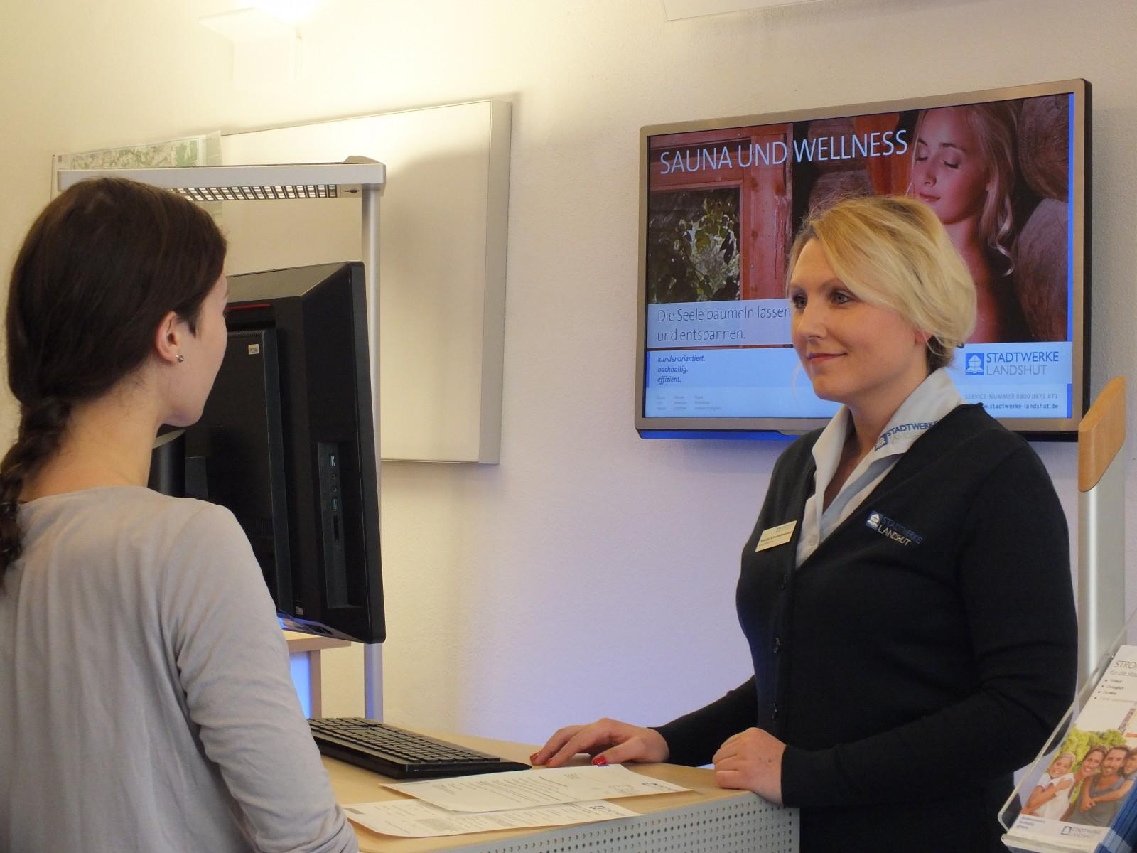 Individuelle Kundenberatung im Kundenzentrum