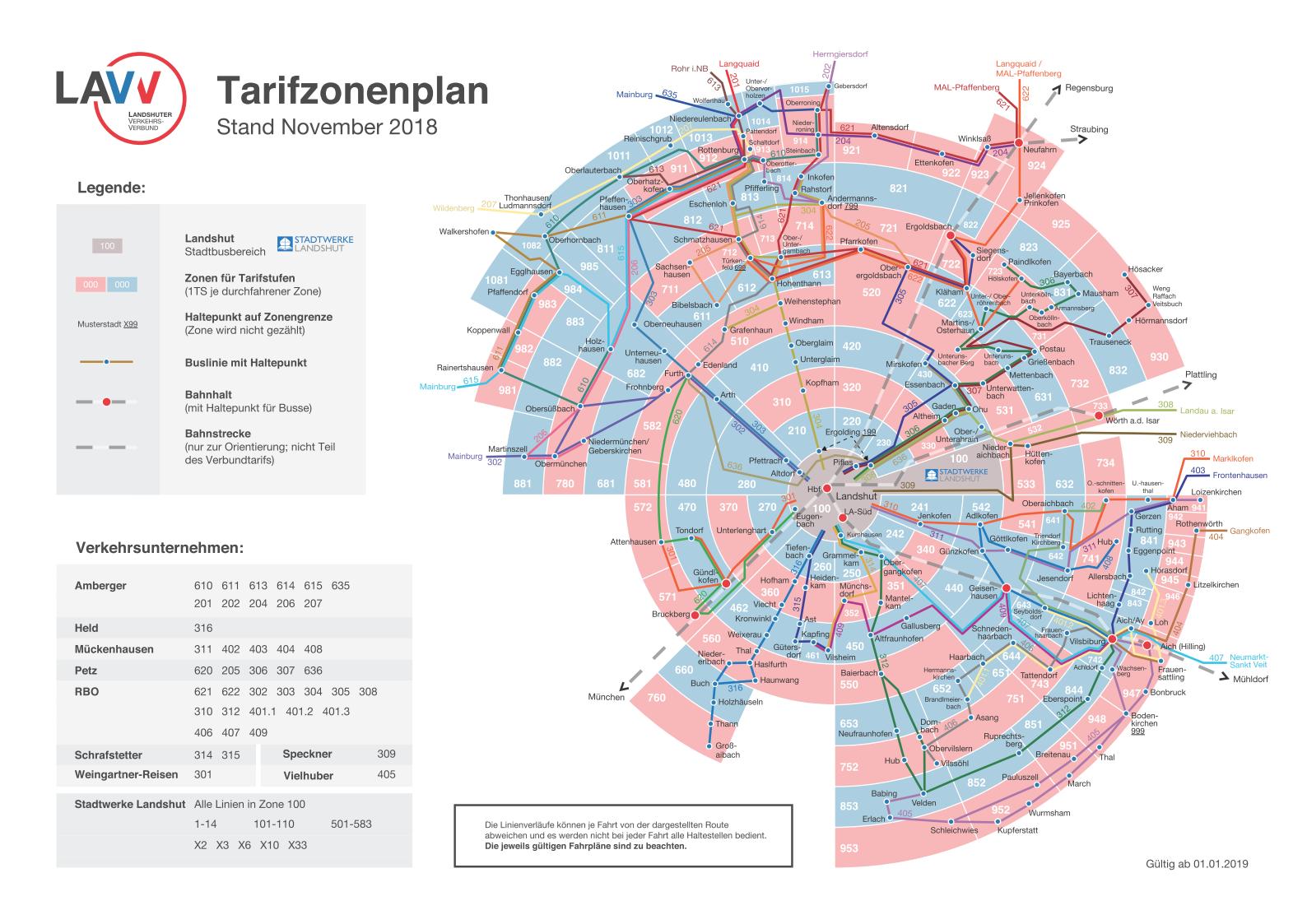 Landshuter Tarifzonenplan