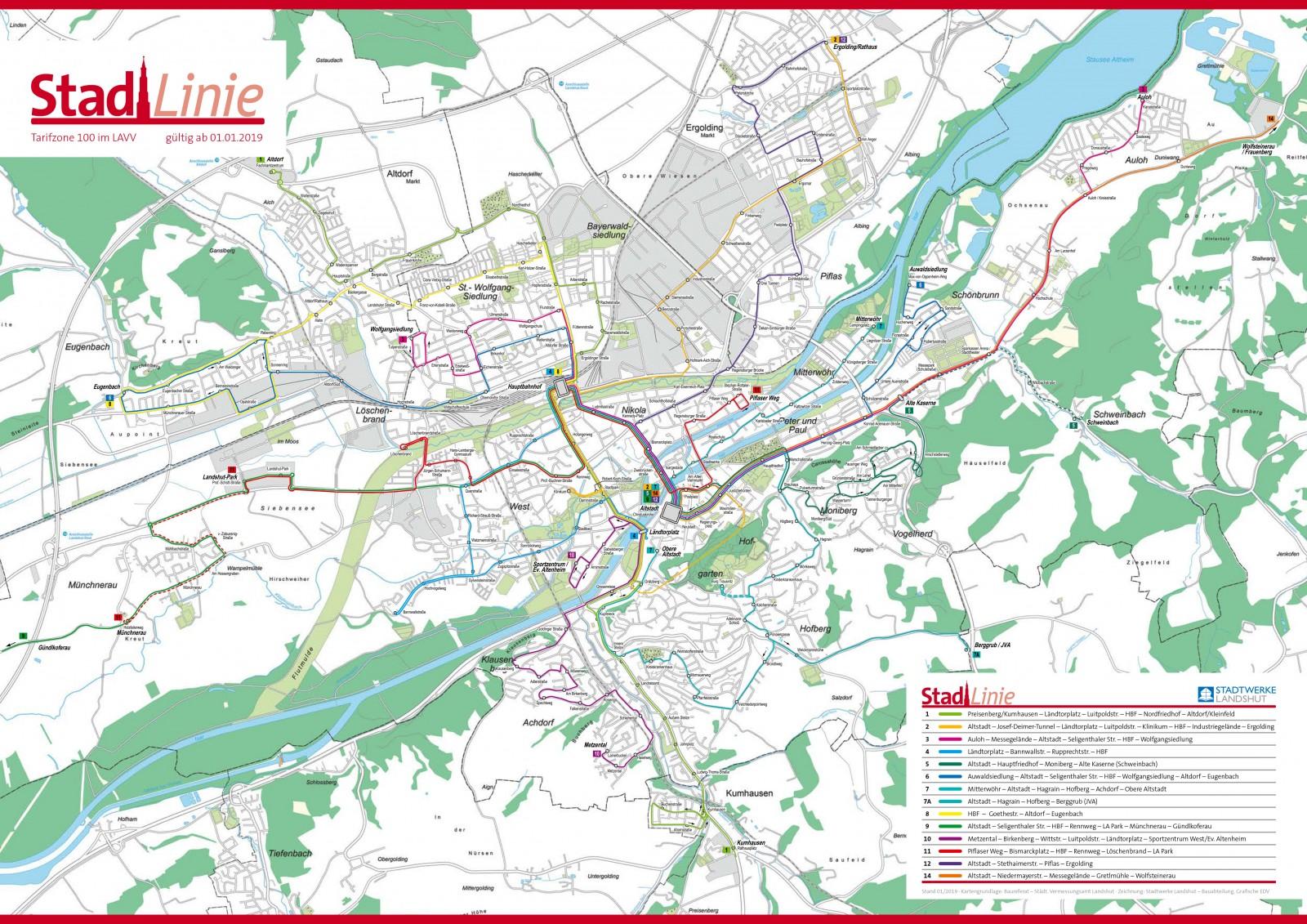 Liniennetzplan der Stadtlinie-geo