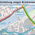 Umleitungsplan Treibgut-Bergung Heilig-Geist-Bruecke