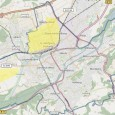 Stadtplan mit markierten Gebieten, in denen Stromausfall war
