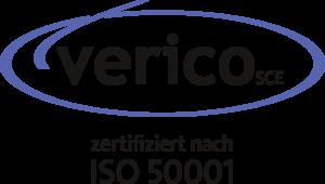 Verico Logo zertifiziert nach ISO 50001