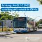 Hinweis zum Warnstreik im ÖPNV am 09.10.2020