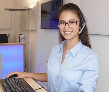 Mitarbeiter im Kundenservice der Stadtwerke Landshut